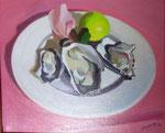 Plat d'huîtres HST 22x27 2014 Vendu