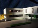 Hôpital Alliance, Ministère de la santé de Nouvelle Guinée  photos et réalisation maquette Hervé Arnoul  Echelle 1/200e.