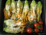 Gefüllte Kürbisblüten mit Ricotta und Zucchino