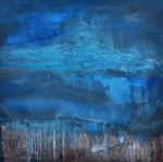 RANGITOTO   Acrylic on canvas    76x76cm  (sold)