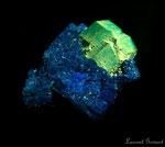cuprite sur azurite (Rhone)