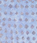 Crystals in blue 2, ink on cardboard, 25,1 x 21,5 cm, 2007