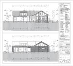 Wohnhaus u. Außenanlagen, Dülmen - Ausführungsplanung Gebäudeschnitte