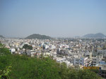 Vijayadwada mit Gandhi Hügel-Planetarium