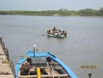 Fischerhafen in Machilipatnam am Golf von Bengalen