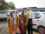 Welcome by Apoorva and Anitha in Vijayawada