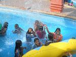 Fun in the wave pool