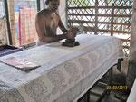 Kalamkari natural colors fabric printing