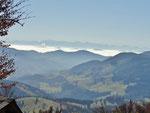 Alpensicht aus der Belchenregion