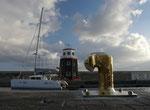 Der schöne Jachthafen ...