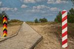 .. am Grenzübergang von Ahlbeck