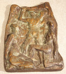 """""""Relief mit drei Personen"""", Bronze, Auflage 100 Exx., gegossen bei Kittel in Düsseldorf, Jahresgabe der Oldenburg-Gesellschaft, monogrammiert """"EO 17/100"""", 450,-€"""