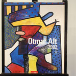"Deckblatt des Kalenders Ottmar Alt 2002, Titel ""Sternengucker"", erschienen bei Weingarten, 54x46cm, 150,-€"