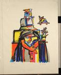 ohne Titel, Siebdruck, Künstlerexemplar (e.a.), mit Bleistift signiert, 47x36cm, 180,-€