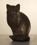 """""""Äugender Fuchs"""" 1987, Höhe 11cm, Auflage 80 Ex., Bronze, 300,-€"""
