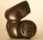 """""""Exercising Baby"""", Maße: ca. 11,5x6,5cm, Gewicht: 0,38kg, Serpentinstein, 45,-€"""