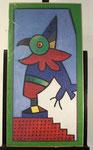"""""""Kernbeißer"""", Farboffset, signiert, ca. 85 x 45 cm, 80,-€"""