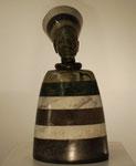 """""""König"""", Maße: ca. 26x12cm, Gewicht: über 2kg, diverse Serpentinsteine"""