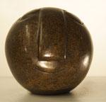 """""""Ball Head"""", Maße: ø 10cm, Gewicht: ca. 1,6kg, Serpentinstein, 65,-€"""