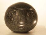 """""""Ball Head"""", Maße: 12x12x12cm, Gewicht: 1,9kg, Serpentinstein, 300,-€"""