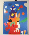 """""""Olympiade München 1972"""", datiert 1970, Siebdruck nachträglich handsigniert, Auflage 4000, 86 x 64 cm, gerahmt 114 x 90 cm, Olypmia-Info fehlt, 325,-€"""