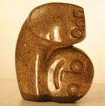 """""""Exercising Baby"""", Maße: ca. 12x9,5cm, Gewicht: 0,7kg, Serpentinstein, 70,-€"""