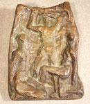 """""""Relief mit drei Personen"""", Bronze, Auflage 100 Exx., gegossen bei Kittel in Düsseldorf, Jahresgabe der Oldenburg-Gesellschaft, monogrammiert """"EO 38/100"""", 450,-€"""