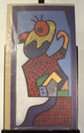 """Kakadu"", Farboffset, signiert, ca. 85 x 45 cm, 80,-€"
