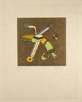 """""""Der Nasenbär"""", Radierung, 1975, Ex. 96/100, XCVI/C, Zinkographie auf Japan-Velin, Motiv: 21x21cm, Blatt: 41x32,5cm, 220,-€"""