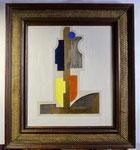 8.1 Geometrische Figur mit Rahmen, 100 x 89, 2013