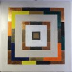9.1,Muster mit Kupfer, 100 x 100, 2013