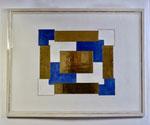 2.1 Muster in Blau, Weiß und Gold, 72,5 x 93, 2009