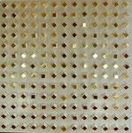 23.2 Würfel mit Polimentvergoldung und polierten Seitenflächen auf weißem Bolus mit zwei Rauten, 100 x 100, 2018