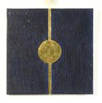13.3 Goldener-Punkt auf Blau, 24,5 x 24,5, 2014