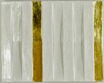 42.1  Poliment vergoldete vertiefte Streifen mit vertieftem und erhabenen weiß polierter Umgebung 30x40cm 2020