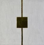13.2 Goldenes Quadrat auf Weiß, 24,5 x 24,5, 2014