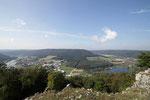 Blick über das Altmühltal links auf Riedenburg-Haidhof