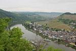 Blick von der Ruine Grevenburg auf Traben-Trarbach