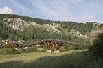 Zweitlängste Holzbrücke Europas, 193m lang, 3,2m breit