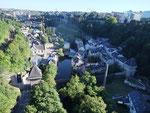 Luxemburg Stadt, Ausblick von einer Brücke