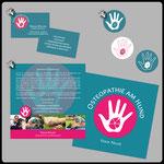 1) Visitenkarte auf Recyclingpapier • 2) Logo-Design • 3) Infoflyer auf 300gr. Recyclingpapier 148 x 148 mm