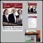 1) Plakat A4, A3, A1 • 2) Postkarte A6, 2-seitig • 3) Schaukasten Petrus-Kirche Kiel-Wik