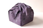 Furoshiki Purple (Yotsu Musubi), 2007; Watercolor on shaped paper, 7 x 6 1/2 x 6 inches