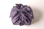 Furoshiki Purple (Yotsu Musubi), 2007; Watercolor on shaped paper, 7 x 6 1/2 x 6 inches - top