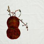 Jade Furoshiki 2, edition of 3, 2008; Ink on cotton, 15 3/4 x 15 3/4
