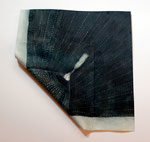 Sashiko Furoshiki #2, 2009; Watercolor on shaped paper, 12 x 12 7/8  x 1 inches