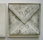 Lace Paper, 2005; Watercolor on shaped paper, 8 x8 x 3/4 inches