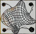 Net, 2008; Katagami stencil, 18 x 16 3/4 inches
