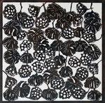 Lotus Pattern, 2008; Katagami stencil, 17 3/4 x 18 1/2 inches