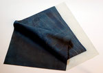 Sashiko Furoshiki #6, 2009; Watercolor on shaped paper, 21 1/2 x 17 x 2 inches